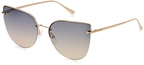 Tom Ford FT0652 28B Shiny Rose Gold FT0652 Cats Eyes Sunglasses Lens Category 2