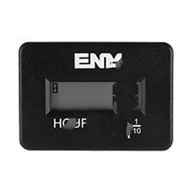 ENM Company TB44F65A, Hour Meter; Rectangular; 6-Digit; Self-Powered; 4.5-60VAC/VDC; 50/60Hz; IP67