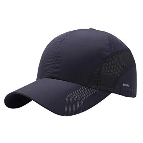 Croogo Sport Sun Cap Summer Quick Drying Sun Hat UV Protection Outdoor Cap Men Women Baseball Cap Hat Dark Gray