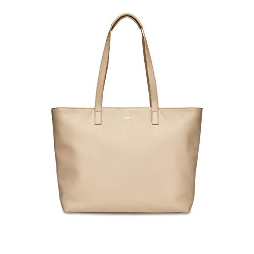 KNOMO London Mayfair Luxe Zip Top Tote 15 Beiger Trenchcoat