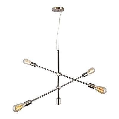 Lampundit Modern Sputnik Chandelier Lighting 4-6 Lights Chandelier Mid Century Pendant Lighting Industrial Ceiling Light Fixture for Dining Room Kitchen Living Room