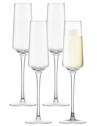 Lawei Set mit 4 Champagnergläsern –...