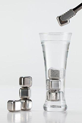 ステンレス氷アイスキューブ溶けない氷ウイスキーロックワインクーラーステンレス氷永久氷[8個セット専用保存箱付き]