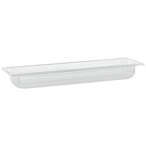 "Vollrath Super Pan 1/2 Size Long Clear Polycarbonate Low-Temperature Food Pan - 2 1/2""D"