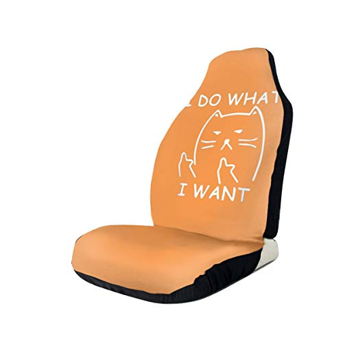 Best Bargain Nmfdz Funny Cat I Do What I Want Car Seat Covers Automotive Interior Accessories Front ...