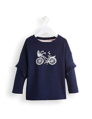 Marca Amazon - RED WAGON Rwg-049 - sudadera Niñas, Azul (Multicolour), 104, Label:4 Years