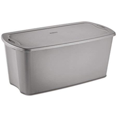 Sterilite 50 Gallon Tote Box- Titanium - Case of 4