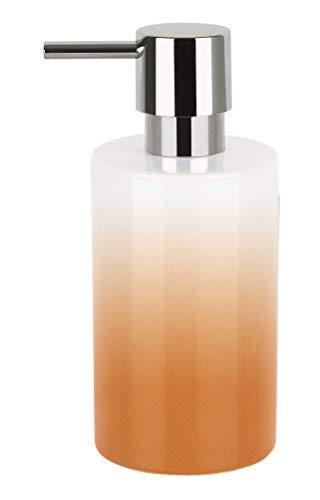 Spirella Tubo de Porcelana Carcasa dispensador de jabón, Naranja