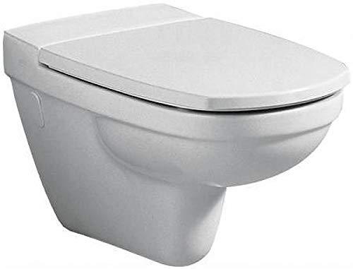 Keramag WC-Sitz Vitelle mit Deckel, abnehmbar, Scharniere in Edelstahl, Absenkautomatik, weiß, 573625000