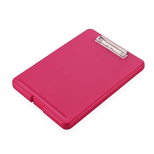 VICCOO - Scatola portaoggetti per fermacarte A4 in plastica per documenti e cartelli, colore: Rosso