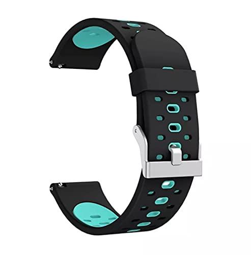Pulsera de silicona para Xiaomi Amazfit Gts Bip Gtr, correa de muñeca talla S de 22mm para reloj inteligente Xiaomi Amazfit GTS 2 BipS para (Negro/Azul)