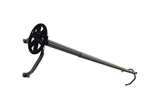 International Pool Protection Teleskop in Schlauchaufroller Stahl Inox. mit Wandhalter Max. 5.50 Metros en 102mm