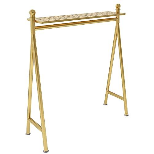 HJYPZJ Stand appendiabiti,appendiabiti in ferro audace,appendiabiti per la casa del negozio con piedino antiscivolo/Gold / 100x40x150cm
