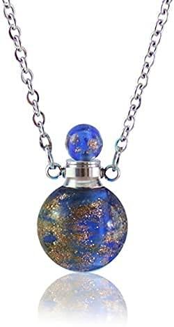 CJSZSD 1 Pieza de Collar de urna de Vidrio, medallón de cremación de Recuerdo, Colgante de joyería, joyería de cremación Conmemorativa de Cenizas