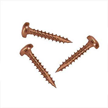 Pfostenkappen-Schrauben mit Cutspitze, aus Kupfer*, Paket: 10 Schrauben + Torx-Bit