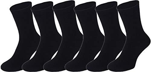 BestSale247 6 Paar Herren Thermo Socken Warme Dicke Winter Sportsocken schwarz Gr. 39-42