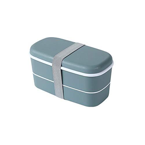 DLYWLCC Caja de almuerzo térmica fresca caja de doble capa Bento caja de material plástico comida Childrenlunch Box