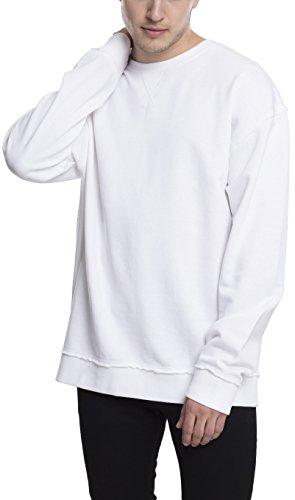 Urban Classics TB1590 Herren Pullover Oversized Open Edge Crew White, M