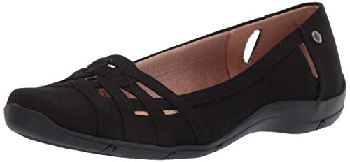 LifeStride womens Diverse Flat, Black, 9 US