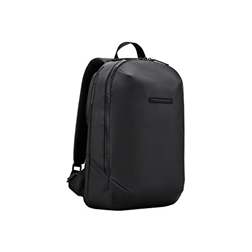 HORIZN STUDIOS Gion Backpack | Business Laptop Rucksack | Wasserabweisend | Schwarz (Black, S)