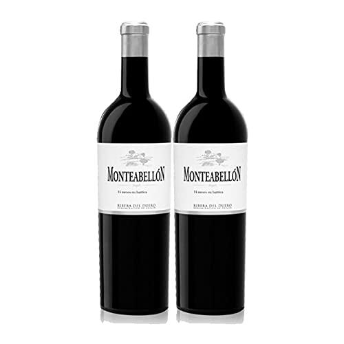 Vino Tinto Monteabellon Crianza de 75 cl - D.O. Ribera del Duero - Bodegas Monteabellon (Pack de 2 botellas)