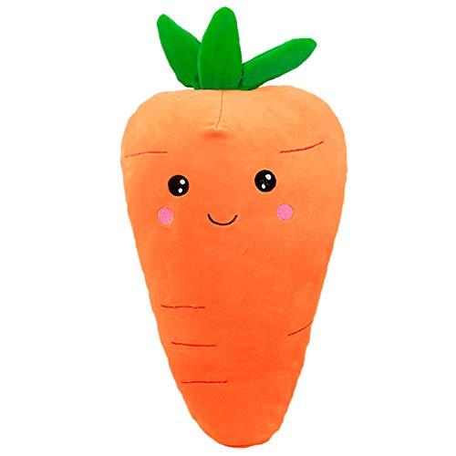 1 Unidad de Juguetes de Zanahoria Vegetal, Verduras Grandes, Mano, Almohada de Peluche cálida, Juguete Suave Relleno, cojín de Felpa Suave, Regalo de Zanahoria para niños y Adultos