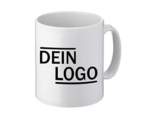 Foto Premio Werbetasse mit Logo | Kaffeetassen mit Logo Bedrucken, Tasse mit Logo in Kleiner Auflage günstig bestellen, Spülmaschinen- und Mikrowellenfest, 300ml Füllmenge (Standard)