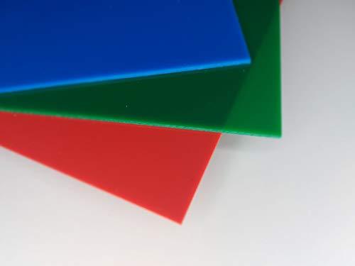Plaque acrylique bleu 1000 x 500 x 3 mm Plexiglass bleuâtre