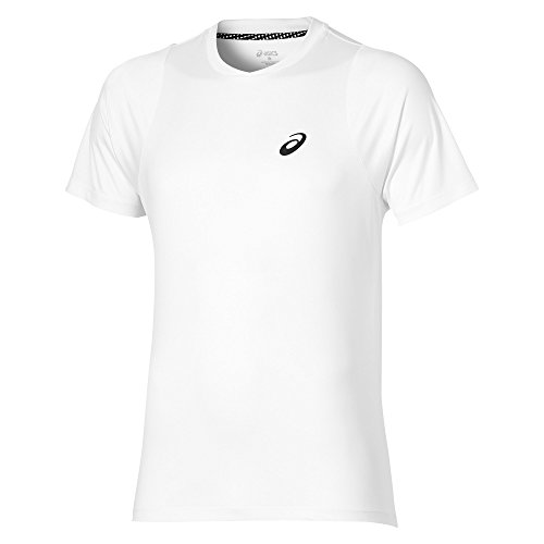 ASICS oberbekleidung Club Manches Courtes pour Femme, Homme, Oberbekleidung Club Short Sleeve Top, weiß