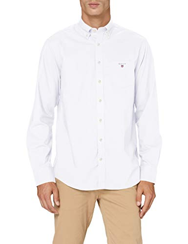 GANT The Broadcloth Reg BD Camiseta Deporte, Blanco (White), XX-Large para Hombre