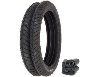 Compatible with Michelin City Pro Tire Set - Fits Honda CB125S CL125S - Tires and Tubes
