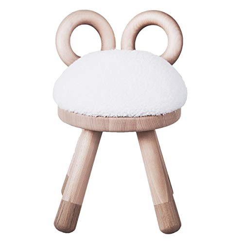 EO Denmark - Sheep Chair - Schaf Hocker - Kinderstuhl, Hocker, Stuhl - Holz, Kunstfell - (LxBxH): 26 x 24 x 39 cm