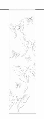 Home Fashion 87477-796 Schiebevorhang Digitaldruck Salo, Dekostoff, 245 x 60 cm, schwarz/weiß