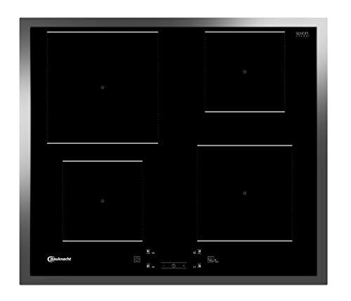 Bauknecht Induktions-Kochfeld BQ 2760S FT/Booster/Touch Control/Simmer-Funktion/Restwärmeanzeige/flacher Edelstahl-Rahmen