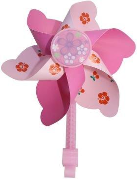W+er Windmühle Kinderfahrad Fahrradwindmühle Klipphalter 3 Ausführungen 01300601 (2) Pinktöne)