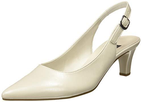 Gabor Shoes Damen Fashion Pumps, Weiß (Off-White(+Absatz) 80), 42 EU