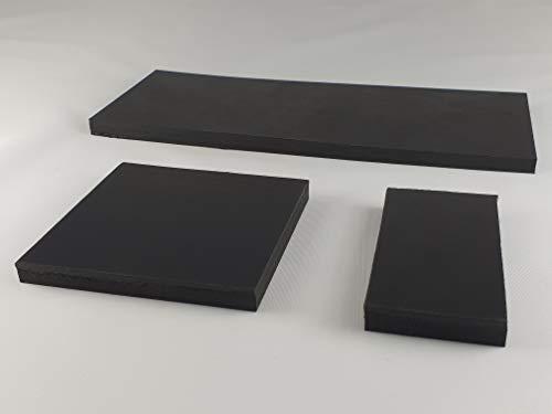 Gummimatte Gummiplatte 100x150mm / 8mm Stärke Antivibrationsmatte für z.B. Waschmaschine/Hochleistungsmixer