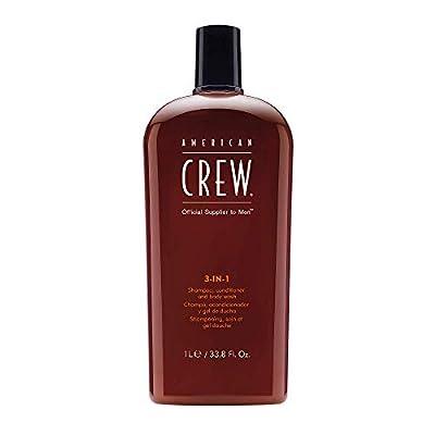 AMERICAN CREW 3-in-1 Shampoo Conditioner and Body Wash, 33.8 Fl Oz