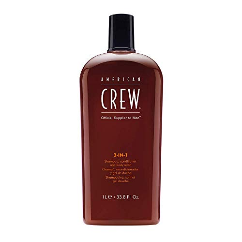 AMERICAN CREW 3-in-1 Shampoo Conditioner and Body Wash, 33.8 Fl Oz