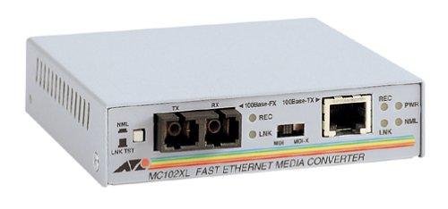 Allied Telesis AT-MC102XL 100Mbit/s convertidor de Medio - Convertidor de Red (100...
