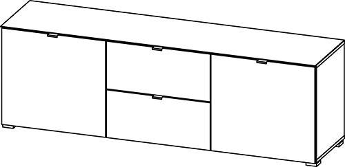 Germania Lowboard Perla   In Sonoma Eiche und Graphit   166 x 54 x 41 cm   3136-162
