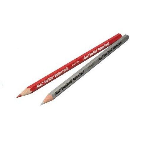 Markal 96105 Red-Riter/Silver-Streak Welder Pencil, 1 Red-Riter and 2 Silver Streak Pencils