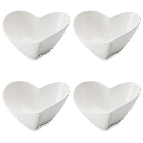 Maxwell & Williams White Basics Ciotola da Dessert/Ramen, a Forma di Cuore, Porcellana