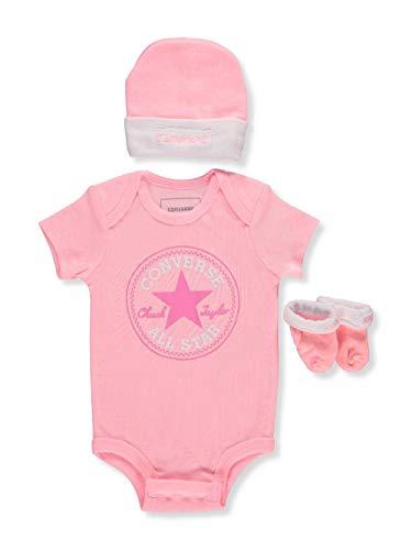 Converse Baby Girls' 3-Piece Layette Set - Arctic Pink, 0-6 Months