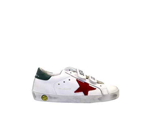 Golden Goose Sneakers Old School Weiß, Mehrfarbig - White Green Red - Größe: 31 EU