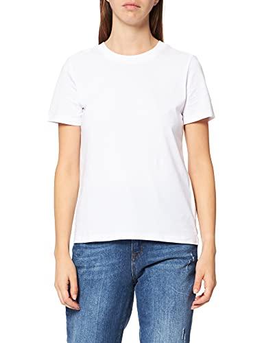 Esprit 011EE1K363 T-Shirt, 100 / Blanc, M Femme