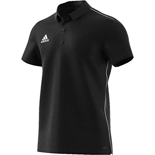 adidas Herren CORE18 Polo Shirt, Black/White, 3XL