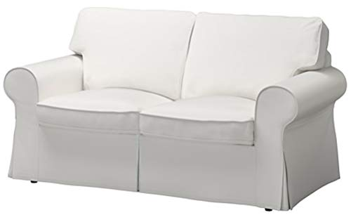 The Cotton Sofa Cover is 2 Seat Sofa Slipcover Replacement. It Fits Pottery Barn PB Basic Loveseat Sofa (White)