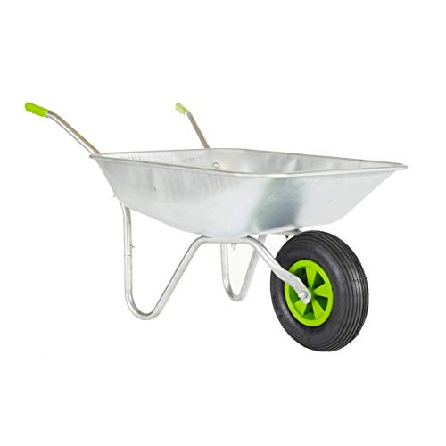 Neo® 65L Wheelbarrow Home Garden Cart with Galvanised Pneumatic Tyre