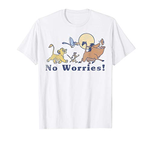 Disney Lion King No Worries Vintage Group Shot T-Shirt